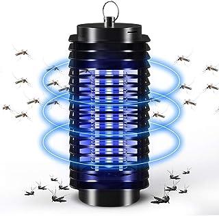 DEDECP Lámpara antimosquitos electrónica con lámpara Ultravioleta, lámpara de Tienda silenciosa portátil Repelente de Insectos Que acampa LED antimosquitos LED Interior y Exterior en Verano, 220V