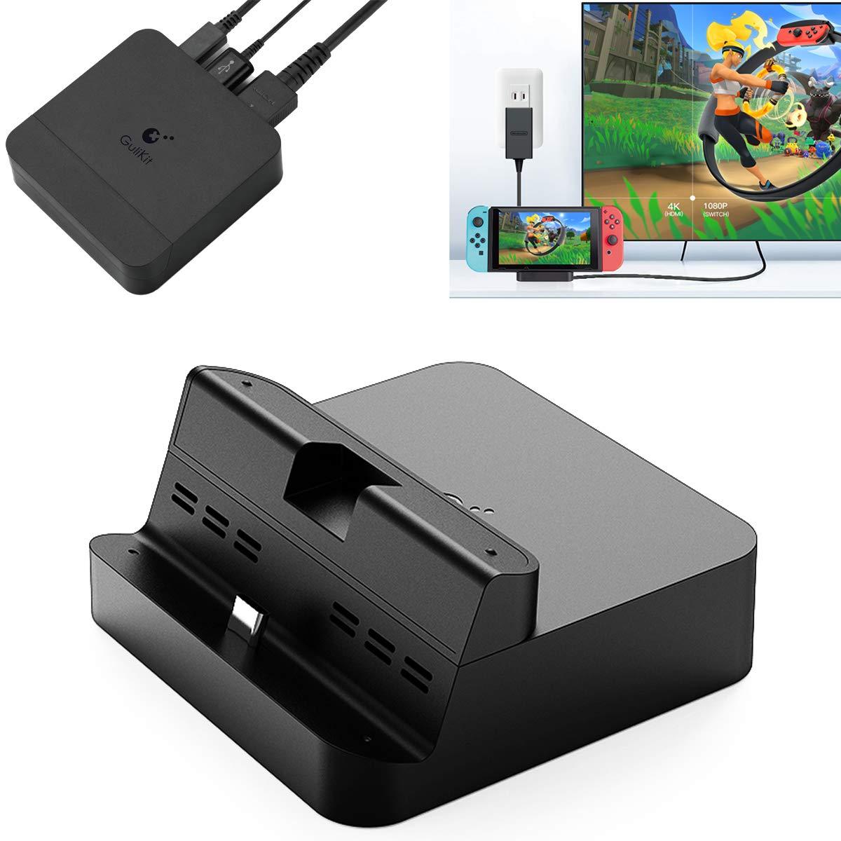 GuliKit Switch Dock Set Base de Carga Portatil, USB C a HDMI TV ...