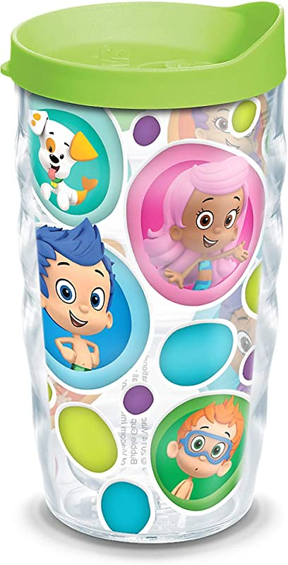 Tervis 1141955 Nickelodeon Bubble Guppies Tumbler With Wrap And Lime Green Lid 10oz Wavy Clear