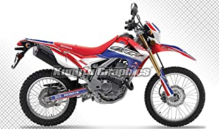 Kungfu Graphics Custom Decal Kit for Honda CRF250L CRF250M 2012 2013 2014 2015 2016 2017 2018, Blue White Red, Style 007