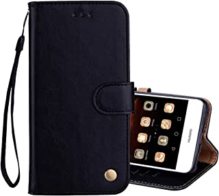 YKDY Case for Huawei For Huawei Y5 (2017) / Y6 (2017) Business Style Oil Wax Texture Horizontal Flip Leather Case with Hol...