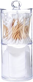 HPiano Caja Acrílica Organizador de Maquillaje Caja de Algodón de Maquillaje Titular de Almacenamiento de Acrílico Caja de almacenaje, Cajas apilables con práctica Tapa