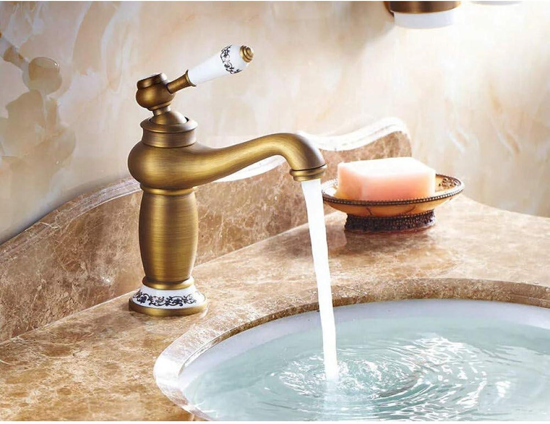 ZHFJGKR&ZL Spültischarmatur Messinghhne Waschbecken WasserhahnMischbatterie Wasserhahn Heimwerker