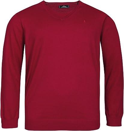 Ragman XXL VNeck Sweater Carmine red Melange