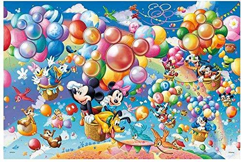 IUWAN 1000 Piezas Rompecabezas de Papel, Mickey, Minnie, Donald Series Póster Divertidos Rompecabezas Juegos Educativos Regalo Rompecabezas Juguete para Niños 75X50Cm 38x26cm