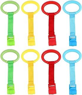 TOYANDONA 8pcs Baby Toddler Crib Pull Ring Safety Stand Up Rings for Kids Walking Training Tool