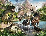Walltastic WT4012 Land der Dinosaurier, Tapete, Wandbild, Multi, 8 x 10 ft