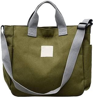 feelingood 1 Pcs Women Shoulder Crossbody Bag Large Capacity Canvas Fashion for Travel Mobile Phone