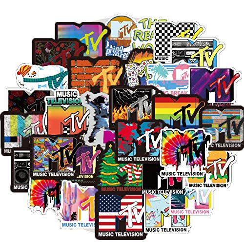 LVLUO Music TV Channel Sticker Computer Skateboard Luggage Refrigerator Motorcycle Decorated Toy Gift Sticker 50Pcs