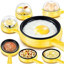 Egg Cooker with Auto Shut Off for Hard Boiled, Poached, Scrambled Eggs or Omelets Eggs Breakfast & York White Separator