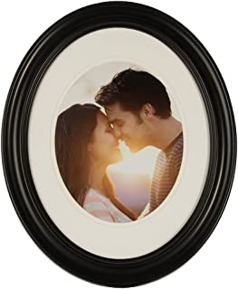 Gallery Solutions 11x14 Black Oval Wall Frame Matted to Display 8x10 Image