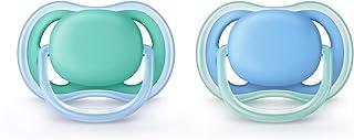 Philips Avent Fopspeen Ultra Air - 6 tot 18 maanden - 2 Stuks - Voor babys met een gevoelige huid - Orthodontisch - 4 Grot...