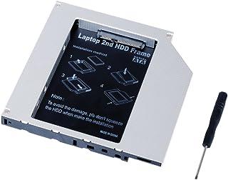 QUMOX Adaptador de 2do HDD SSD SATA Bay 12.7mm a SATA