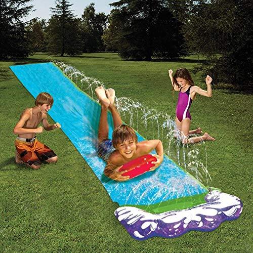 talogca Wasserrutsche, Aufblasbare Wasserrutsche, Rutsche Wassermatte Mit Eingebauten Sprinklern, Kinder Outdoor Wasserspielzeug Für Garten