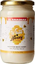 "Arashan White Honey – Raw Unfiltered Honey, Organic (15.87 Oz)| Wildflower/Clover Honey From The ""Mountains Of Heaven"" (Tien Shan, KGZ) 