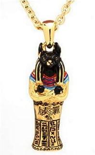 oidea Messieurs Collier avec pendentif en acier inoxydable Vintage Egypte Pharaon /égyptien pendentif avec cha/îne 55/cm Collier en argent
