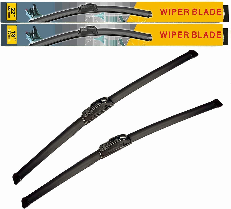 EANTAC 22 Pack of 2 20 Premium All Season Beam Windshield Wiper Blades