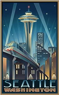 Space Needle Seattle Center Seattle Washington Travel Art Print Poster by Paul A. Lanquist (12