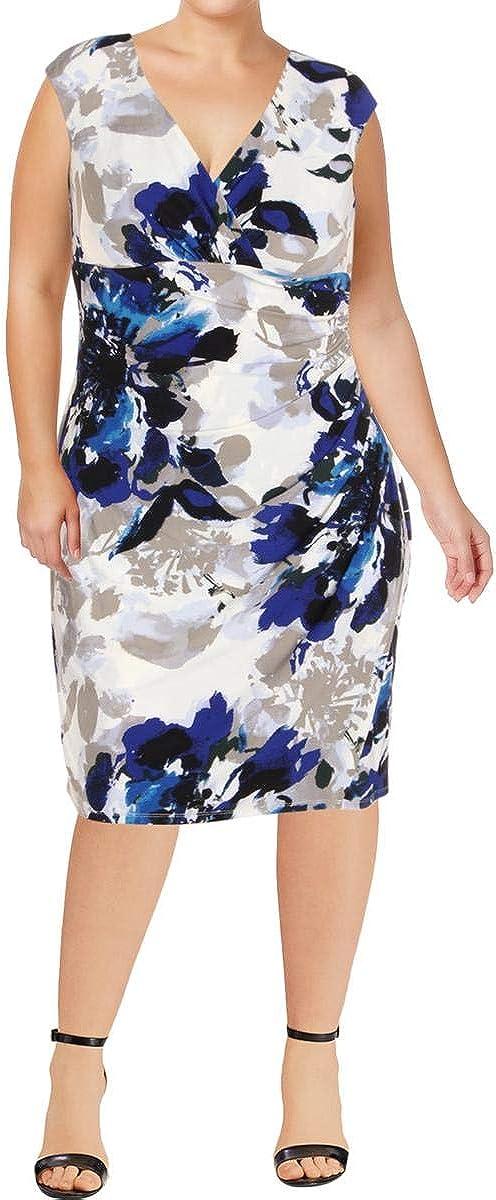 Lauren Ralph Lauren Women's Floral Jersey Sheath Dress
