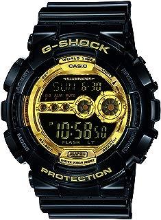 Casio Men's XL Series G-Shock Quartz 200M WR Shock Resistant Resin Color: Black & Gold (Model GD-100GB-1ACR)