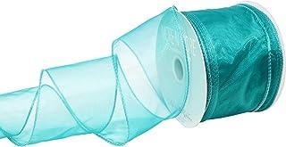 Morex Ribbon Wired Chiffon Ribbon, 2.5-In x 20-Yd, Aqua