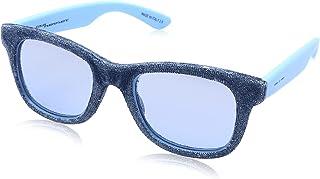 نظارة شمس بعدسات شبه مربعة ازرق وشنبر شكل جينز للنساء من ايطاليا انديبندنت - لبني بيبي بلو