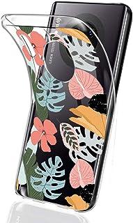 Suhctup Compatible con Huawei Mate 10 Pro Funda Flor de TPU Transparente Diseño de Flores Patrón Cárcasa Ultra Fina Suave ...