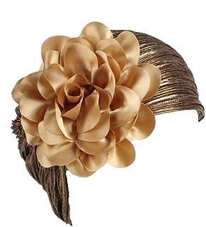 a9572a827a2e90 Womens Great Hats,Women Ladies Retro Big Flowers Hat Turban Brim Hat Cap  Pile (