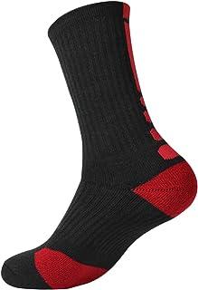 Calcetines de Baloncesto Calcetines AtléTicos Moda Espesada Calcetines de Tubo de AlgodóN para Hombres
