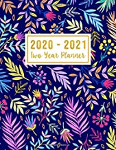 2020-2021 Two Year Planner: 2020-2021 monthly planner full size   Flower Watercolor Cover   2 Year Calendar 2020-2021 Monthly   24 Months Agenda ... Leaves (2 year monthly planner 2020-2021)