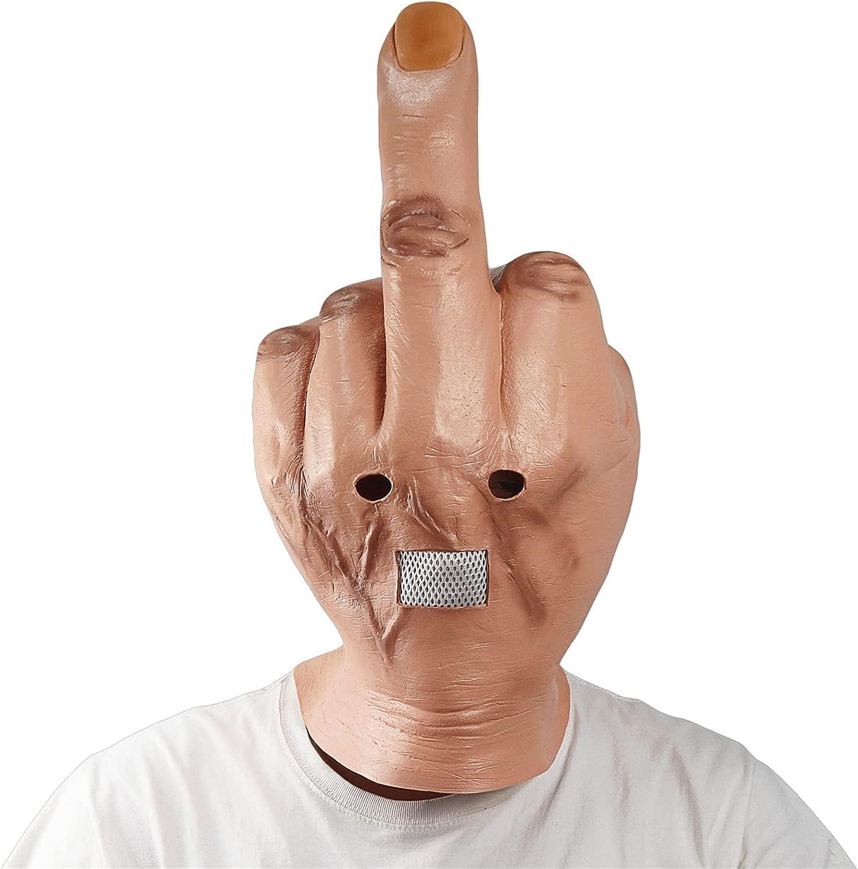 Over item handling Despise Headgear Creepy Erect Middle Fingers wholesale Fi Novelty