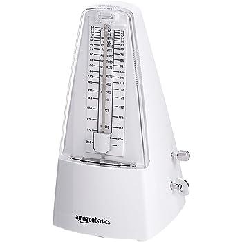 AmazonBasics Mechanical Metronome - Steel Movement - White