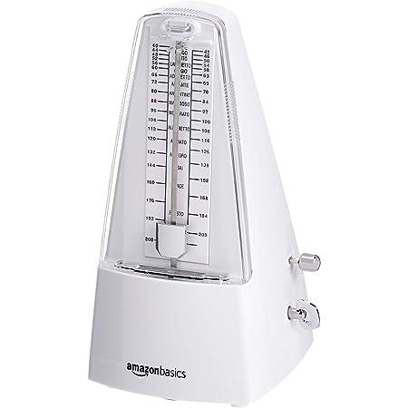 Amazon Basics Mechanical Metronome - Steel Movement - White