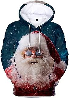 iZHH Mens 3D Hoodie Pullover Sweatshirt Xmas Jumper Long Sleeve Tops Jacket Coat