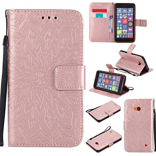 Nokia Lumia N640 Tasche, Nokia Nokia Lumia 640 Hülle, [Standfunktion] Premium Magnetische PU Leder Geldbörse mit Kartensteckplatz Folio Flip Tasche für Nokia Lumia 640 N640