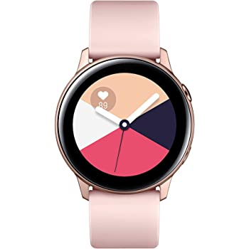 Samsung Galaxy Watch Active (40MM, GPS, Bluetooth) Smart Watch with Fitness Tracking, and Sleep Analysis - Rose Gold  (US Version)