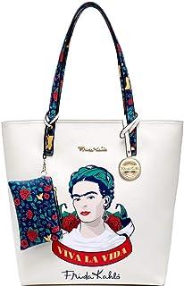 Authentic Frida Kahlo Viva La Vida Tall Shopper Tote Bag Purse