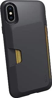 Silk iPhone X/XS Wallet Case - Wallet Slayer Vol. 1 [Slim + Protective] Credit Card Holder for Apple iPhone 10 - Black Tie Affair (Renewed)