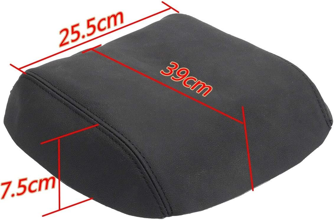 Black/Grey/Beige Car Real Leather Armrest Cover Center Console Lid ...