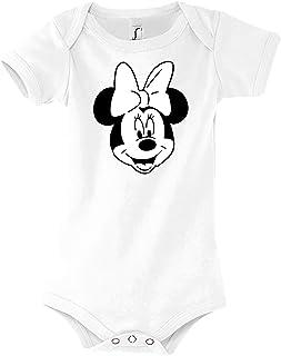 TRVPPY Baby Jungen & Mädchen Kurzarm Body Strampler Modell Mini Mouse, Größe 3-24 Monate in vielen Farben