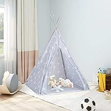 Lektält tunnlar barn tipi-tält med väska polyester grå 115 x 115 x 160 cm