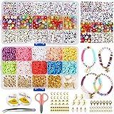 Cuentas de Colores Espaciadores de Arcilla Abalorios Hacer Pulseras Collar de Bricolaje Bisuteria Pendientes Cumpleaños Regalo para Niños Adultas