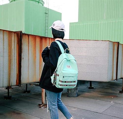 YUHUS Home Personnalité Sacs à Dos Nouveau Style Lettre Couleurée épaule Décorative Sac voituretable Sac à Dos (Couleur   vert)