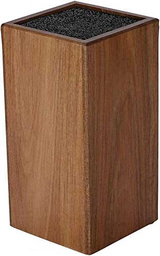 Acacia Wood Blade Holder with Bristles,Knife Holder, Large Capacity, Kitchen Household Multi-function Knife Storage and Placement Rack