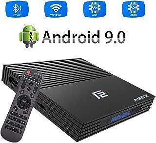 Android 9.0 TV Box, A95X F2 TV Box Amlogic S905X2 Quad Core 4GB RAM 32GB ROM BT4.2 WiFi 3D 4K Media Player