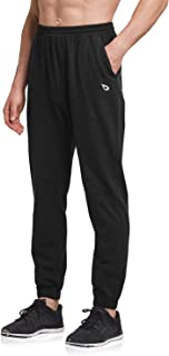 BALEAF Men's Tapered Sweats Joggers for Gym Cotton Athletic Sweatpants for Men