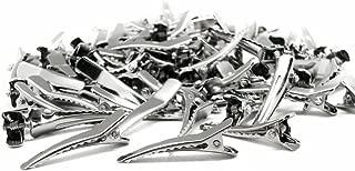 100 Pcs Bulk Bag 3.5cm Silver Metal Alligator Hair Clips