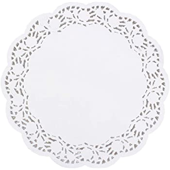 14 Inch PEPPERLONELY 25 PC White Normandy Lace Paper Doilies
