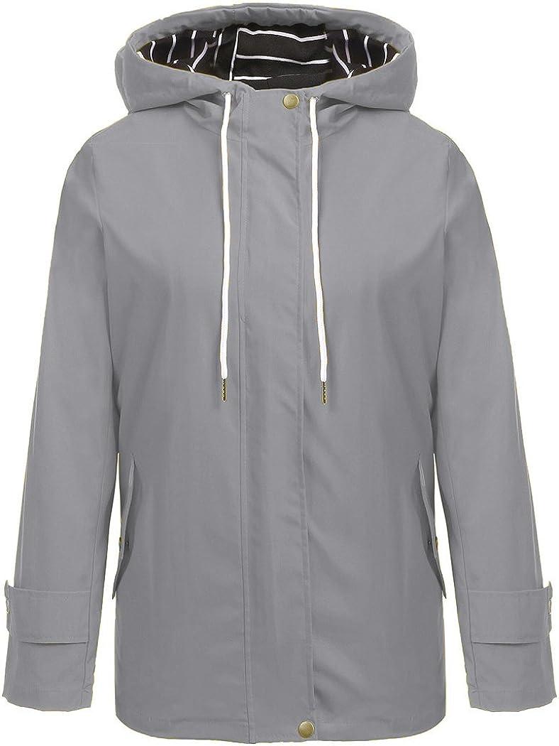 Hount Women Lightweight Waterproof Raincoat Outlet SALE Jacket Limited time sale Hooded Solid