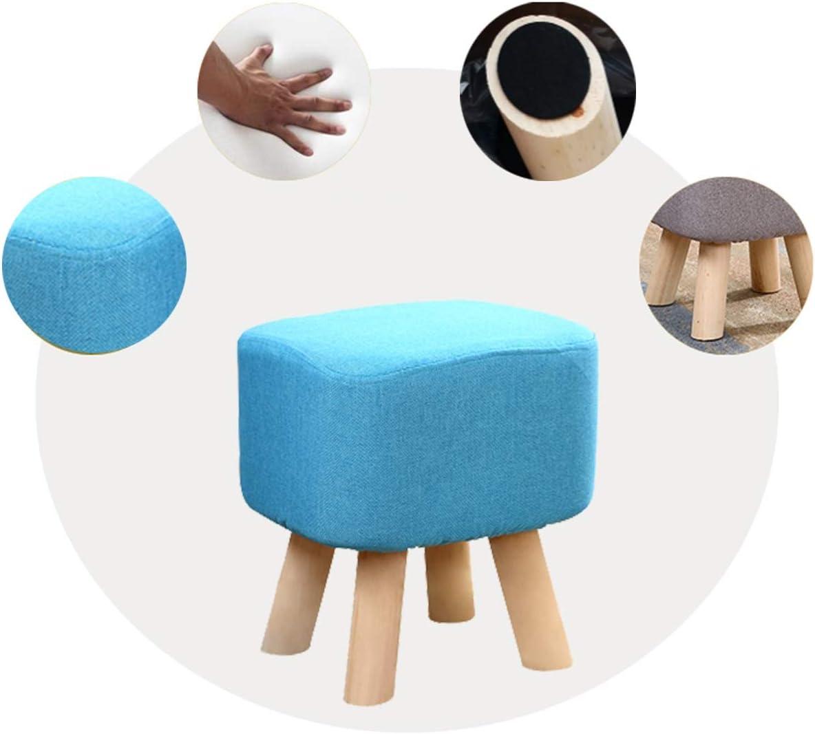 MUYUNXI Activité Chambre Repose-Pieds, Créatif Accueil en Bois Massif Tabouret, Party Game Rest/Bas Tabouret, Multi-Choix De Couleurs, Hauteur 35cm (Color : Sky Blue) Sky Blue